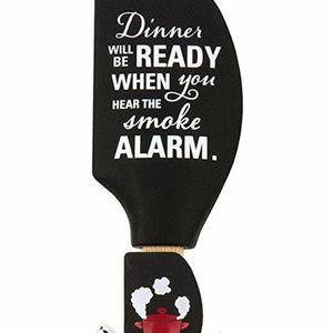 Kitchen Buddies Silicone Spatulas, Smoke Alarm, Bl